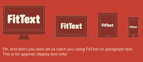 FitText - A jQuery plugin for inflating web typ