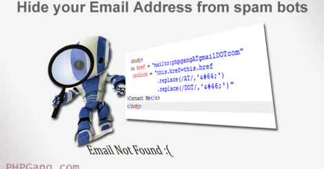 How to Hide your Email Address from spam bots