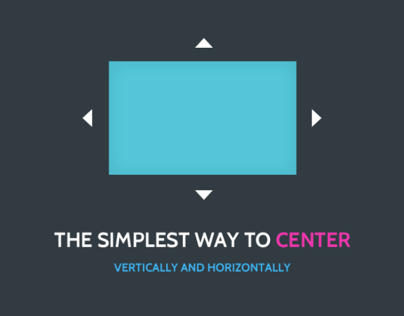 The Simplest Way To Center Elements Vertically And Horizontally